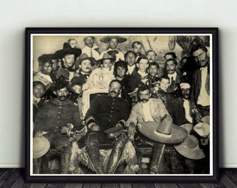 11x14 Pancho Villa / Emiliano Zapata Mexican Revolution Photo