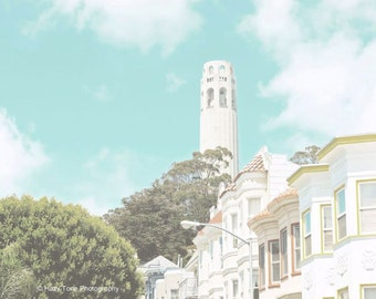 San Francisco Photography Print, Coit Tower, Telegraph Hill, North Beach, California Photo, Wall Art, San Fran Photograph, 8 x 10 Print