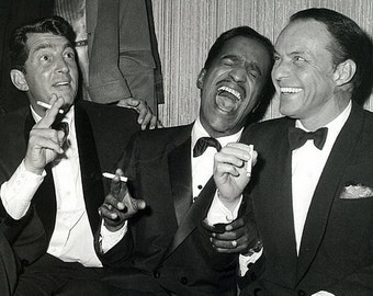 The Rat Pack Stretched Art Poster Canvas Choice of sizes available.