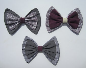 Mauvelous Lolita Hair Bows