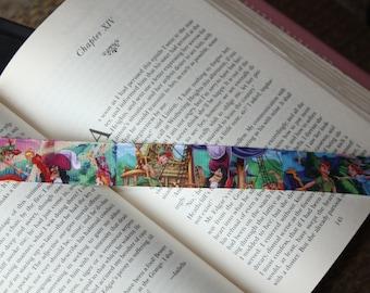 Peter Pan ribbon bookmark, ribbon bookmark, kids bookmark, bookmark,