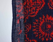 Vintage gauzy cotton navy...