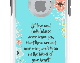 Proverb 3:3 Love OTTERBOX Commuter Phone Case for iPhone 7, 7 Plus, 6/6s, 6Plus/6s Plus, 5/5s/SE Samsung S7 S6 Note 4 5 Personalized Custom