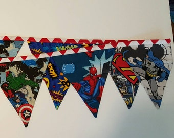 Superhero Fabric Banner
