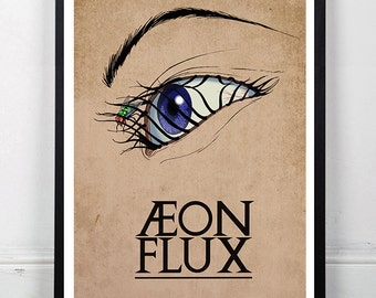 AEON FLUX - Inspired Minimalist Animated Series Poster Print 13 x 19""