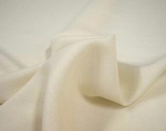 "Beautiful Off White Ecru 100% Woven Silk Fabric 4.5 oz 43""wide sold by the yard"