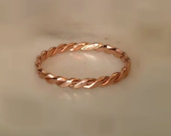 Rose Gold Braided Band in 14K