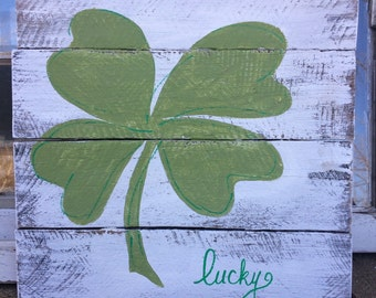St. Patricks day decor, shamrock decor