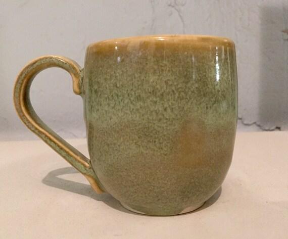 Handemade ceramics - coffee mug -  turquoise green - half price!