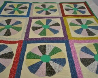 Lap Quilt Green, Multiple Color Lap Quilt,