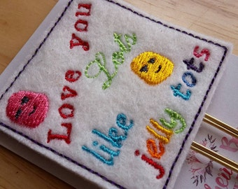 Cute Love You Lots Like Jelly Tots Paper Clip