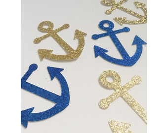 Jumbo Anchor Confetti, Nautical Confetti, Nautical party, Anchor decorations, bridal anchor confetti, ahoy its a boy- 25 total pieces