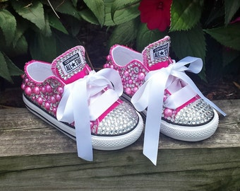 Custom Color Bling Converse Shoes. Rhinestone Shoes. Bling Shoes. Choose Own Color. Converse. Bling Converse. Toddler Shoes. Birthday Shoes