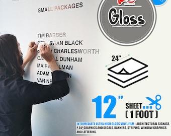 "20 Sheets 24"" x 12""Glossy Self Adhesive Sign Wall Craft Vinyl for Cricut, Cameo 43 colors"
