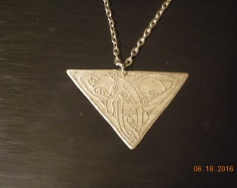 Hand made Etched Celtic Kitty