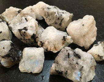 Moonstone chunk - Raw Moonstone Crystal - rainbow moonstone gemstone - healing crystals and stones - raw moonstone - minerals - raw stones
