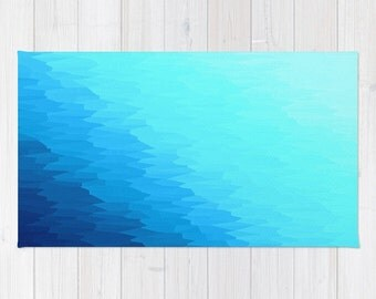 Area Rug Blue Turquoise