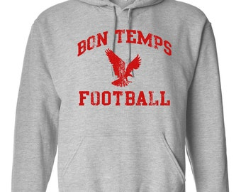 BON TEMPS Football True Blood Fangtasia Goth Vampires HOODIE 360