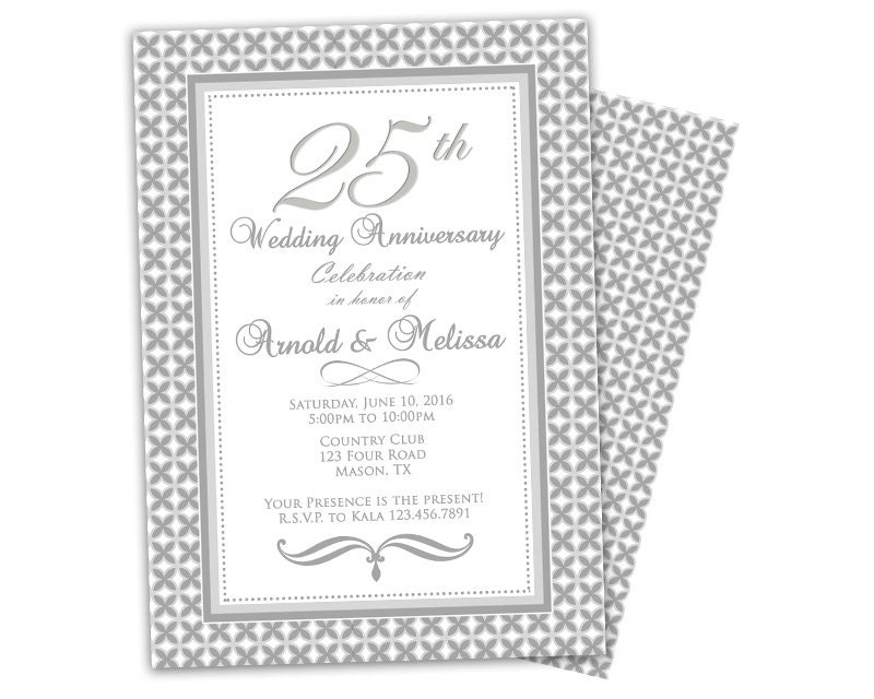 Surprise Wedding Anniversary Invitations: 25th Wedding Anniversary Invitation Surprise Anniversary