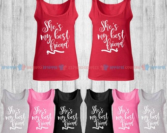 She is My Best Friend - Best Friend Forever Matching Tank Top - BFF Tank Tops