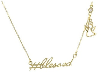 Hashtag Collection  #Blessed Necklace N9215G