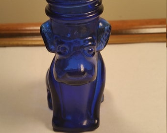 Cobalt Blue Scottish Terrier Candy Jar
