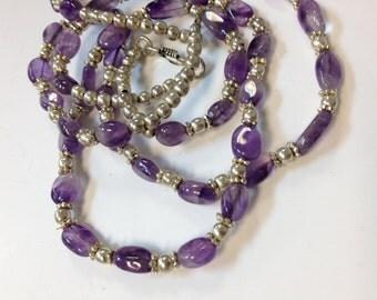 Purple Amethyst Necklace