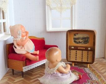 Vintage TV television wooden doll