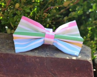 Spring Stripes Bow Tie