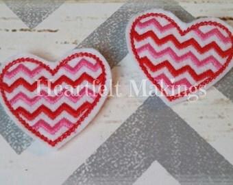 Valentine's day, chevron heart feltie