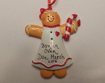 Expectant Mother Personalized Ornament