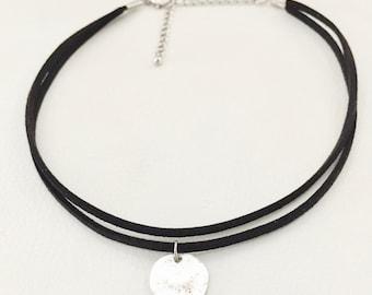 Choker necklace, double choker necklace, black choker necklace, charm choker necklace