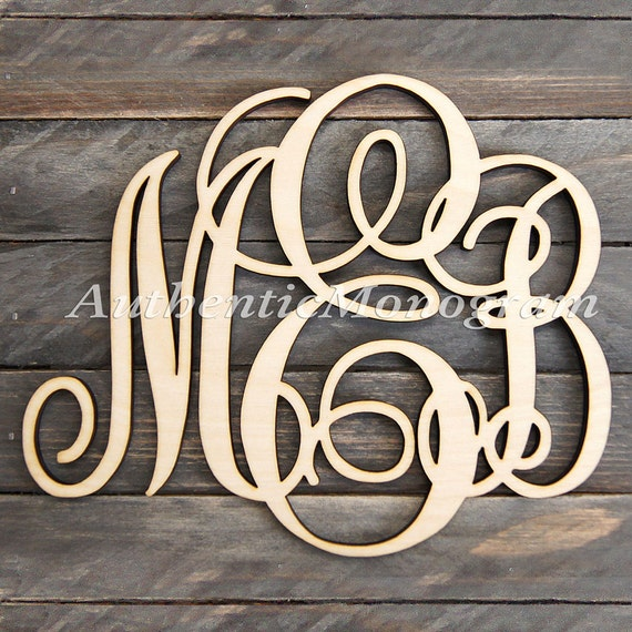 wooden monogram wall letters unpainted home decor monogram