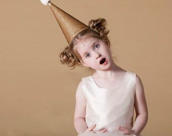 Halloween Clown gold hat , handmade costume, Halloween costume, party hat, carnival costume, Halloween, Halloween costume children