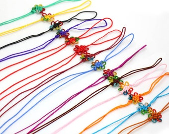 10pcs Multi-color Mobile Phone Chinese Knot-WEN20693543239-MAY