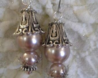 Glass Pearls In silver E - 2008