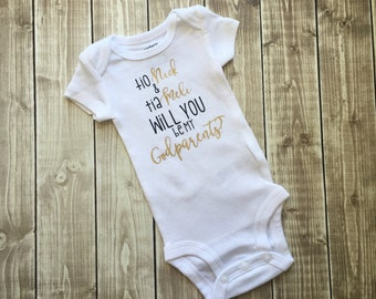 SALE - Will you be my godparents Outfit, godparents Bodysuit, nina and nino Bodysuit, will you be my godparents, baptism, unisex