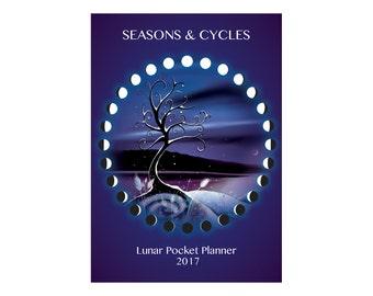 Lunar POCKET PLANNER Moon Calendar 2017