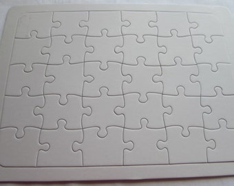 Blank Jigsaw Puzzle 30 Pieces