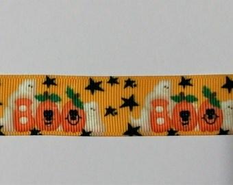 Halloween Ribbon - Ghost Ribbon - Boo Ribbon - Crafting - Scrapbooking -  - 1 Yard