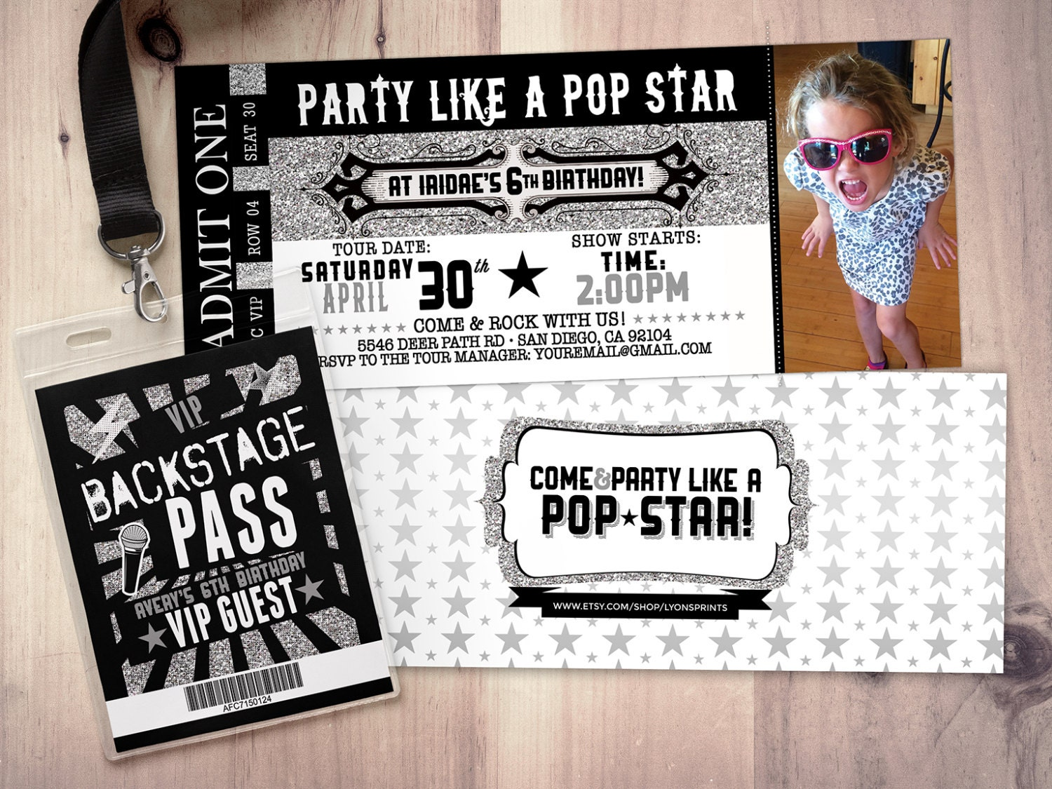 Concert Ticket Birthday Invitations greeting card format training – Concert Ticket Birthday Invitations