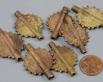 Authentic Ethiopian Small Brass Flat Coin 25mm 1 pc per Order