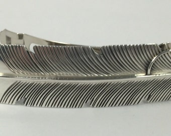 Sterling Feather Barrette