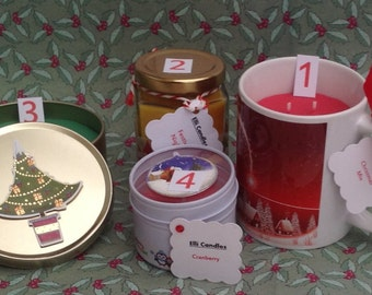 Candle sale...a selection of handmade scented candles available at reduced prices