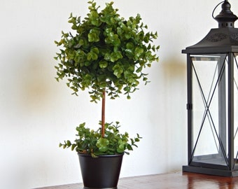 Topiary Tree, Topiaries, Artificial Plant, Faux Green Plant, Indoor Greenery, Silk Plant, Small Tree, Fake Little Tree