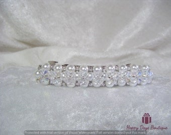 Pearl and Crystal Barrette Hairslide