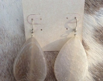 Dragaon Vein Agate Teardrop Earrings