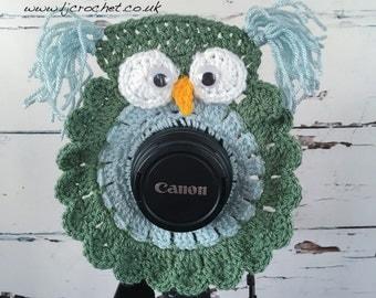 Camera Lens Buddy, Owl Lens Buddy, Camera Accessories, Lens Buddy, Crochet Lens Critter, Photographer Helper, Family Photography, UK SELLER