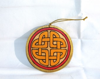 Ornament - Celtic Knot Yellow