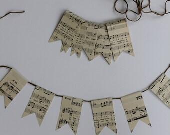 Antique Sheet Music Bunting Garland: Make your own bunting kit